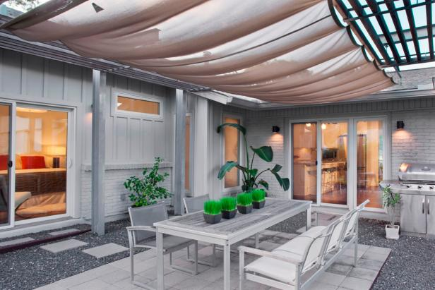 Steel & Concrete Contemporary Patio