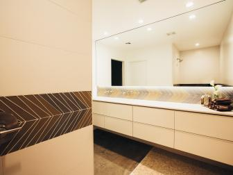 Modern White Bathroom With Floating Vanity