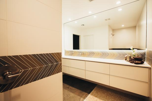 Modern Bathroom With Floating Vanity