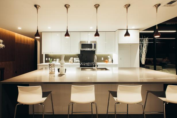 Modern Kitchen With White Ikea Cabinetry