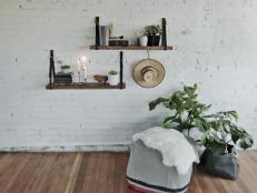 Dan Faires shows how to make a rustic, chic floating bookshelf using old belts.