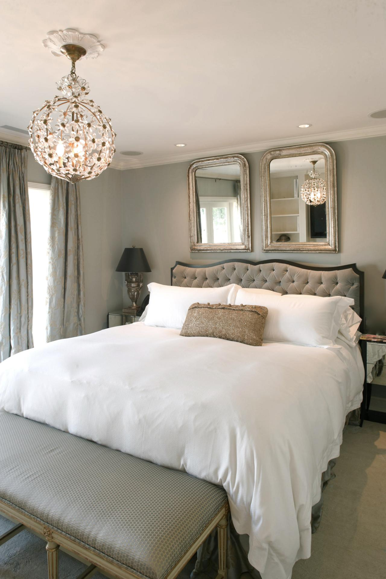 Gray master bedroom photos hgtv for Master bedrooms