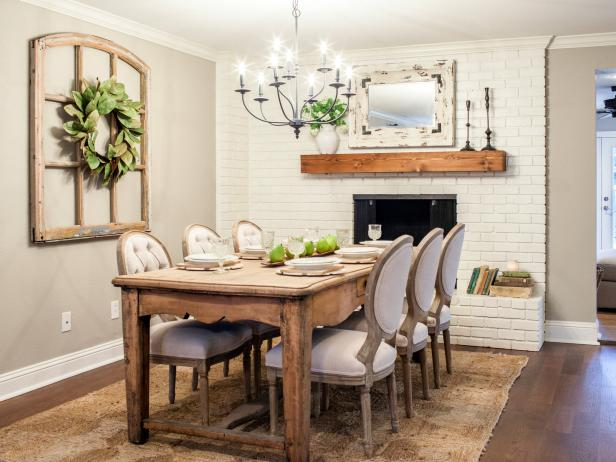 Farmhouse Chic Dining Room From HGTV's Fixer Upper