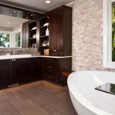 Contemporary Earth-Toned Master Bathroom