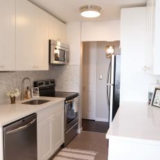 White And Grey Galley Kitchen gray galley kitchen photos | hgtv