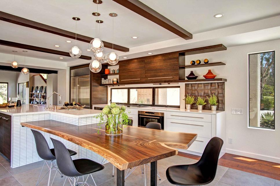 Contemporary kitchen with a touch of nature jackson - Cuisine contemporaine design ...