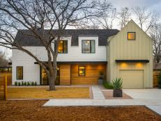 With its modern Austin farmhouse style, a cedar privacy fence, and a charming pecan tree, this Texas home offers an eclectic welcome.