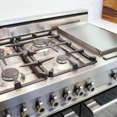 Modern Kitchen With Gas Range Stove