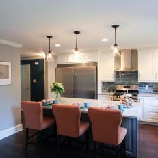 Open Kitchen With Transitional Style