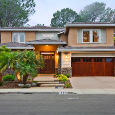 Neutral Craftsman Exterior With Palm Trees