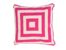 Pink and Cream Graphic Print PIllow
