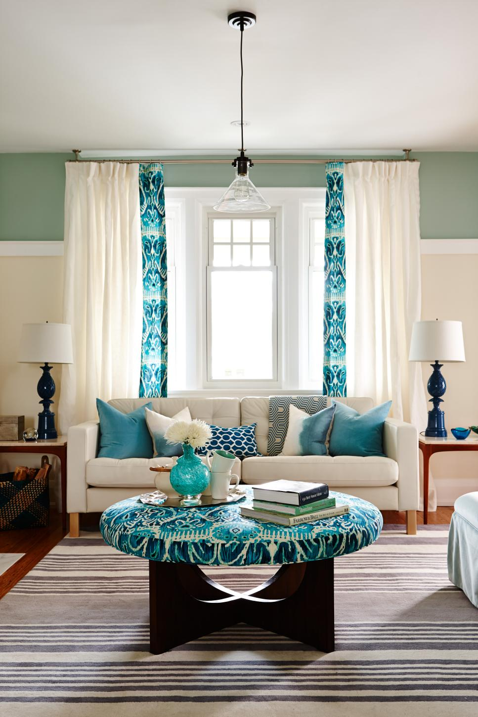 Teal Blue Living Room 20 Colorful Living Rooms To Copy Hgtv