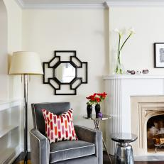 Eclectic, Contemporary Fireside Nook From Sarah Sees Potential