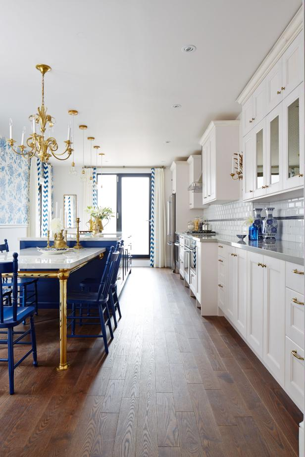 Traditional Eat-In Kitchen With Blue Accents From Sarah Sees Potential