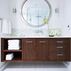 Sleek, Modern Single-Vanity Bathroom From Sarah Sees Potential