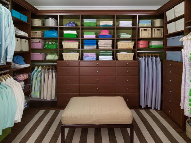 Grand Chestnut Walk-In Closet