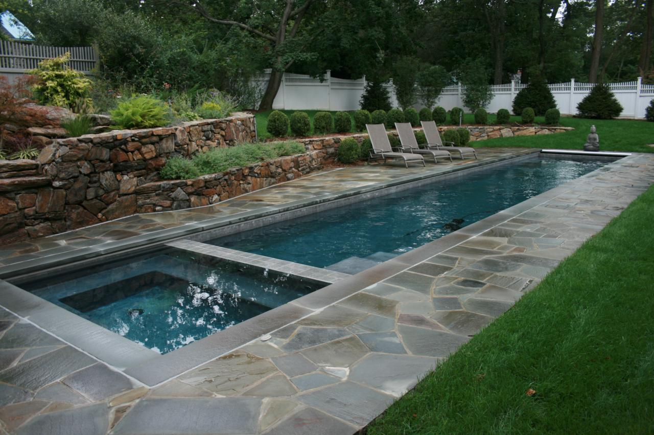 Lap pools for narrow yards landscaping ideas and hardscape design lap pools for narrow yards - Landscape and pool design ...