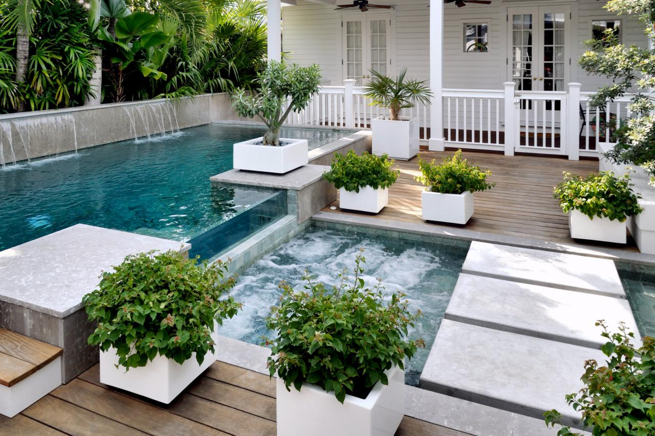 Pool deck designs and options diy for In ground pool backyard ideas