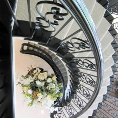 Black Wrought Iron Spiral Staircase