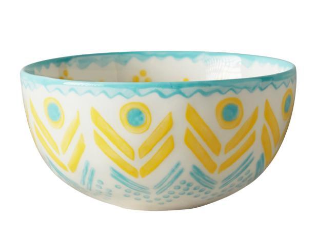"Linari 4 1/2""-diameter stoneware bowl in yellow, $10, anthropologie.com"