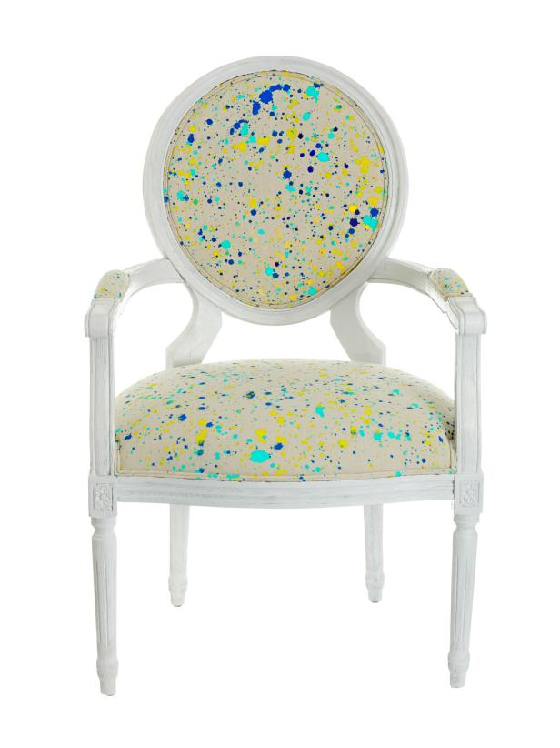 Paint Splattered DIY Chair