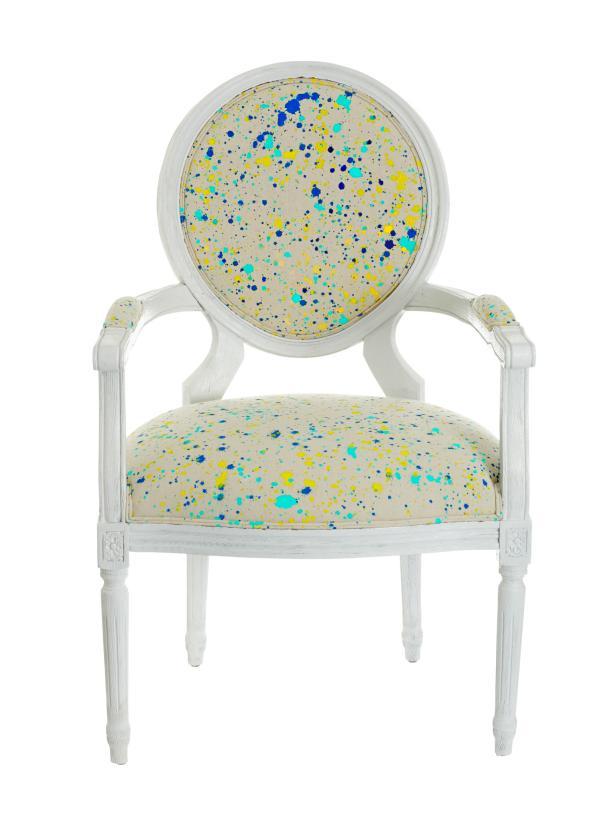 Paint Splattered DIY Chair