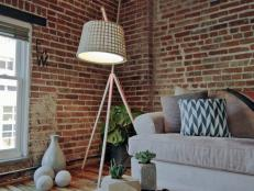 Dan Faires shows how to make a wood floor lamp made with inexpensive materials.