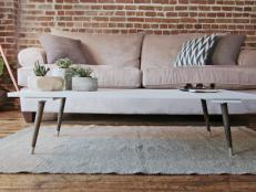Create your own stylish coffee table with lumber, matte white paint and tapered legs. Dan Faires shows you how.