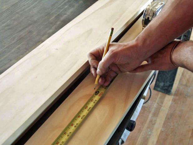 Make a midcentury modern-style coffee table lumber and tapered furniture legs.