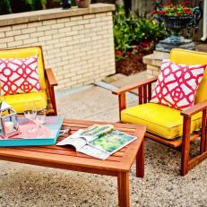 Rehab Addict: Poolside Patio with Bright Furniture