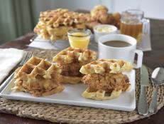 Crispy fried chicken and fresh-baked waffles come together to create an irresistible sweet-and-savory brunch dish or tasty light bite for any get-together.