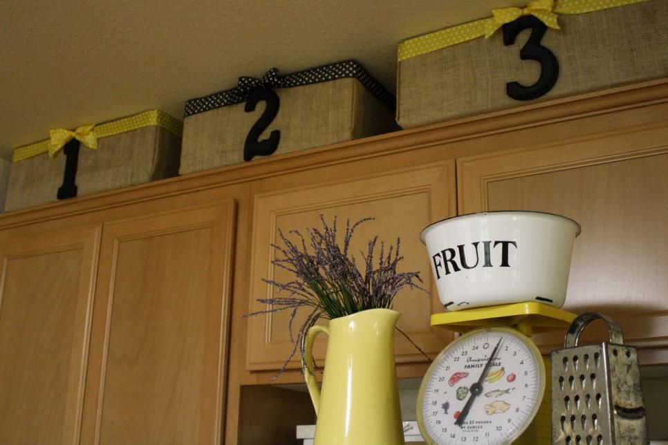 10 ideas for decorating above kitchen cabinets   hgtv  rh   hgtv com
