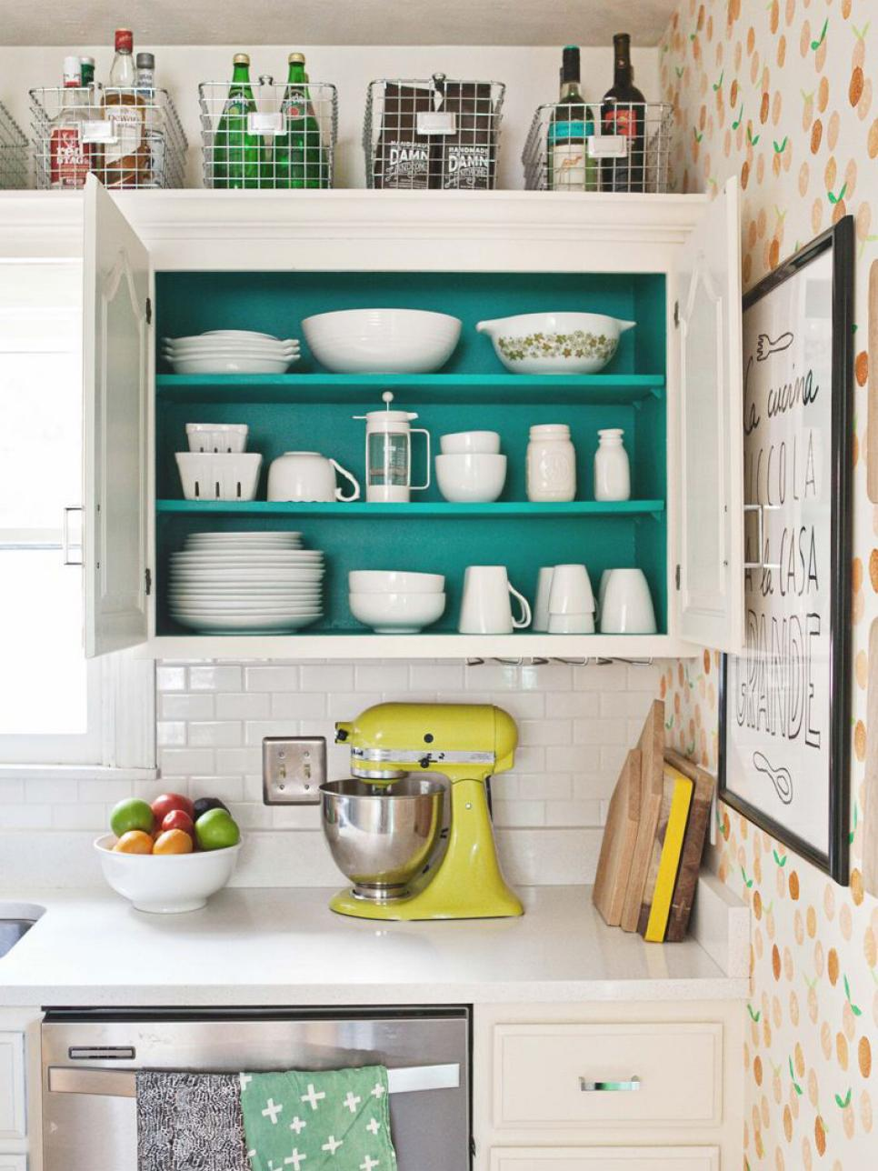 Kitchen Cupboard Tops 10 ideas for decorating above kitchen cabinets | hgtv