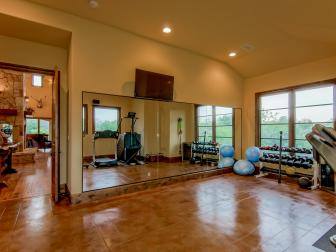 Home Gym With Rustic Luxury