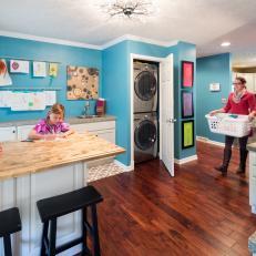Blue Walls Energize Multi-Purpose Room