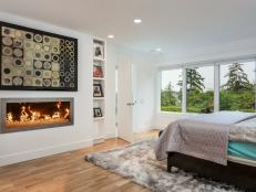 Modern Master Bedroom Feels Bright, Cozy