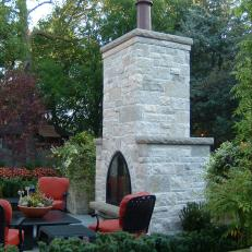 C.B. Conlin Landscaping: An Outdoor Fireplace in Stone