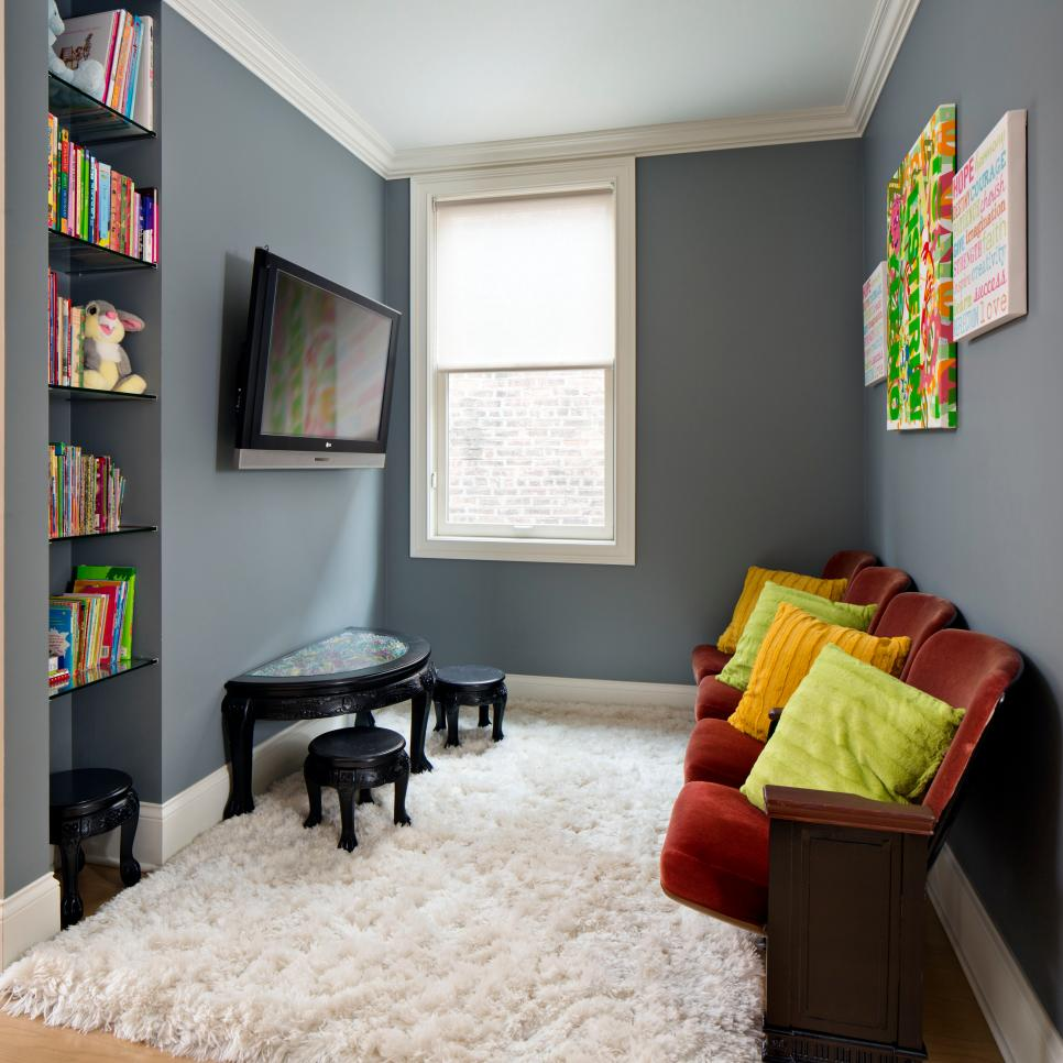 Small Kids Room Ideas: 45 Small-Space Kids' Playroom Design Ideas