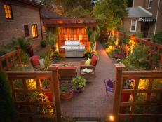 K&D Landscape Design: An Urban Garden at Dusk