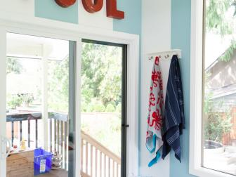 Beach Inspired Contemporary Mudroom