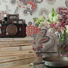 Vintage Accessories and Paisley Wallpaper