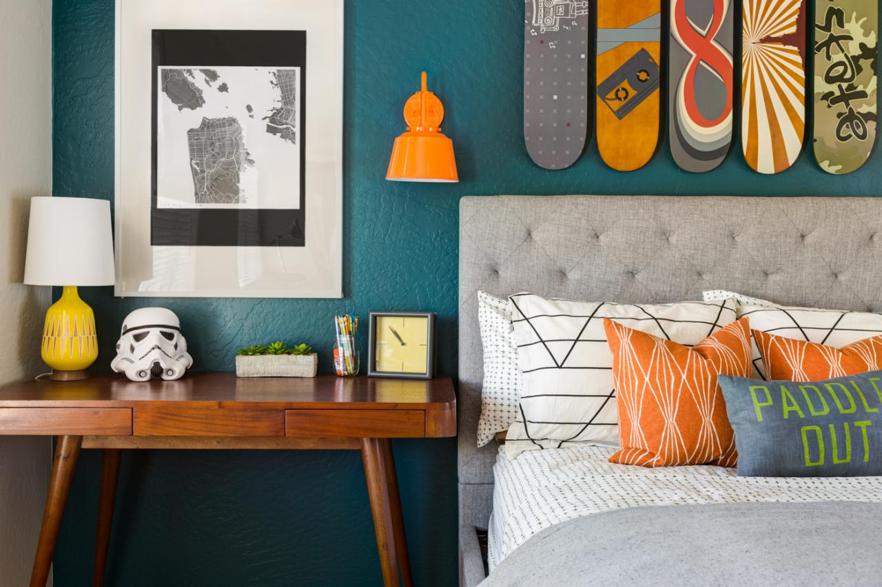 Bedroom Decorating Ideas Blue And Orange teenage bedroom color schemes: pictures, options & ideas | hgtv