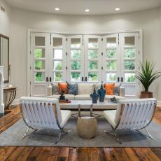Timeless Transitional Living Room With White French Doors Part 61