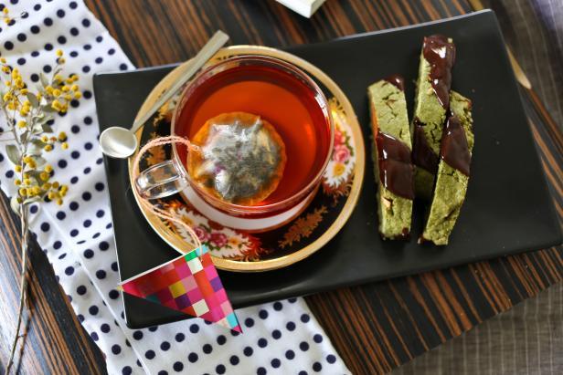 Matcha Green Tea Biscotti