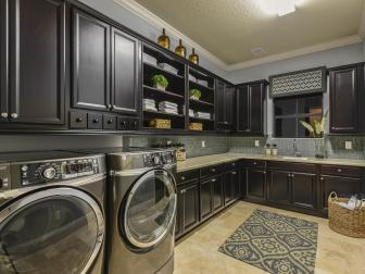Traditional Laundry Room is Spacious, Functional