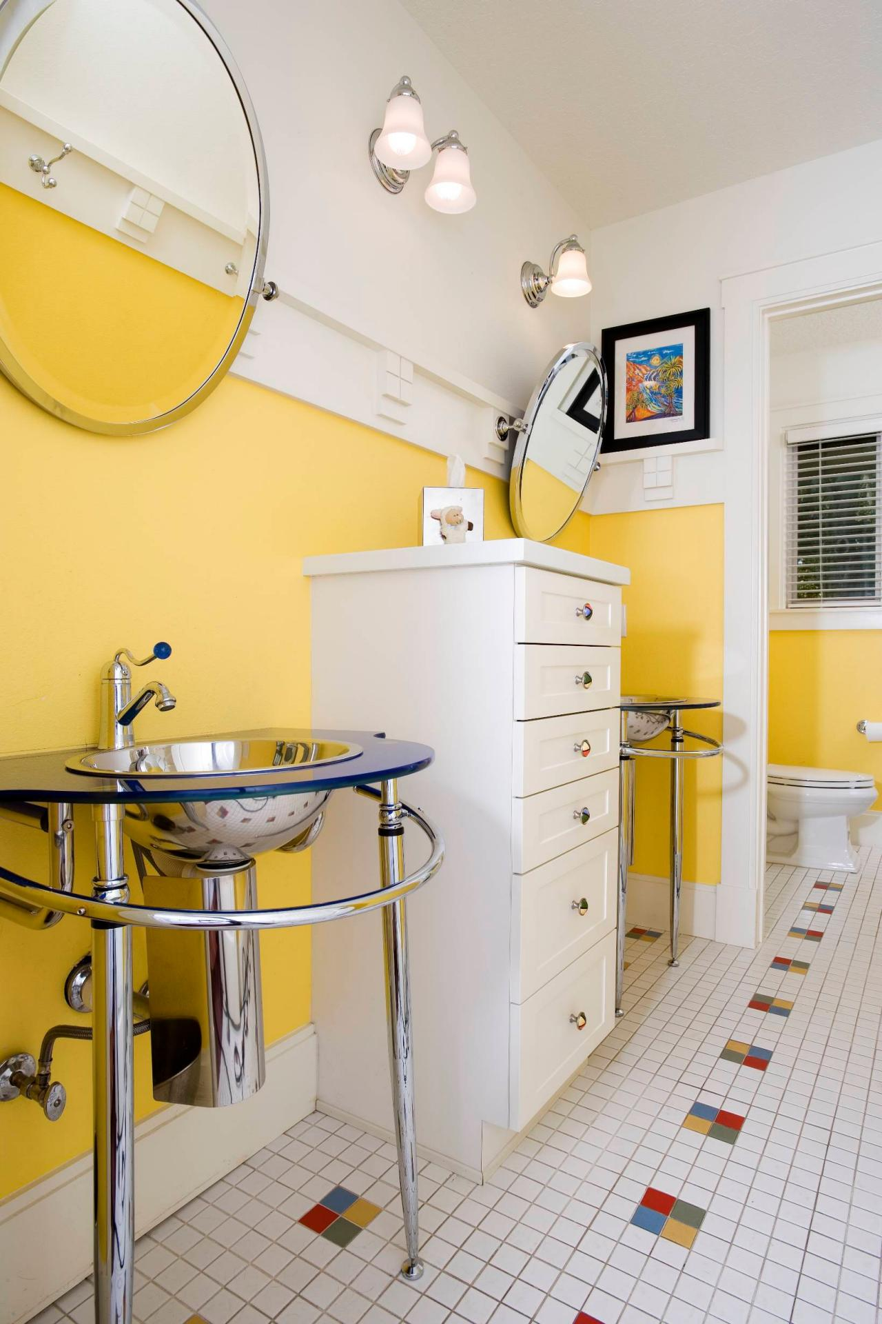 10 yellow bathroom ideas hgtv 39 s decorating design blog hgtv - Pictures of bathroom designs ...
