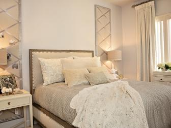 White Traditional Bedroom With Photo Boards