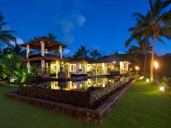 Breathtaking Hawaiian Estate at Night
