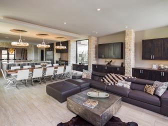 Open Concept Living and Dining Area Fit for Entertaining