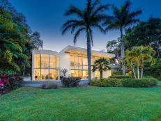 Exterior and Grounds at Night: Oceanfront Oasis in Sarasota, Fla.